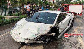 南宁一兰博基尼连撞多车 司机排除毒驾酒驾