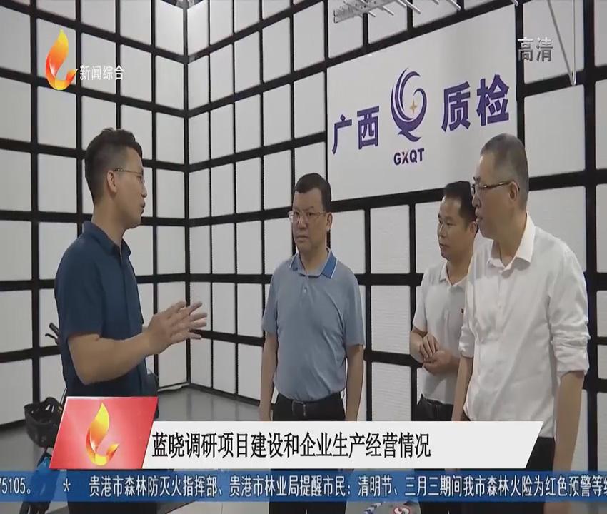蓝晓调研项目建设和企业生产经营情况