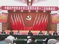 中国共产党贵港市第五届委员会第十二次全体会议公报