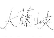 """106毛泽东手书""""大藤峡""""铅笔真迹"""