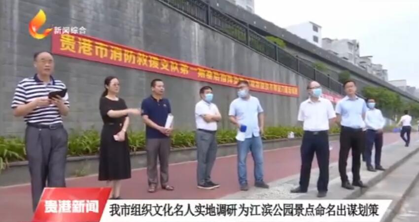 我市组织文化名人实地调研为江滨公园景点命名出谋划策
